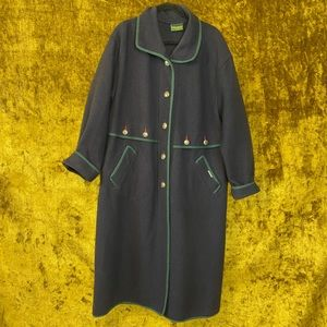 Geiger Boiled Wool Single Breast Trench Coat sz38